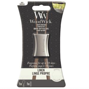 Woodwick- Auto Reeds Starter Kit – Linen