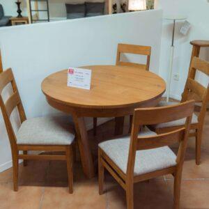 Mesa + sillas de madera TEKA