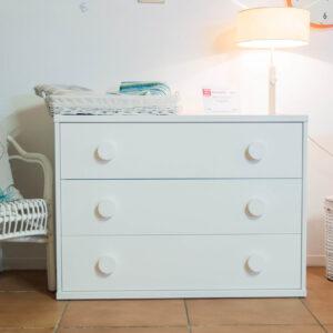 Mueble infantil lacado blanco