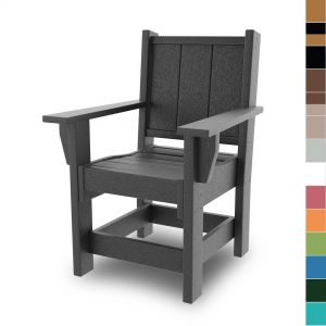 Refined Dining Chair with Arms - HHDCA1-K - Color blocks no navy