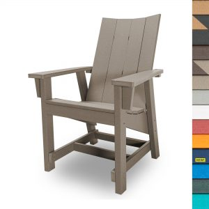 Refined Conversation Chair with Navy