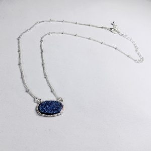 necklace, blue, silver, chain, jewelry, subscription, box