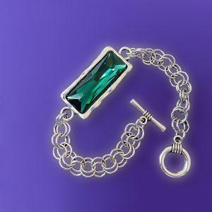 Silver Emerald Bracelet
