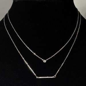 necklace, silver, layer, layered, bar, jewelry, subscription, box