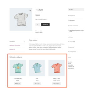 WooCommerce Related Products Screenshot