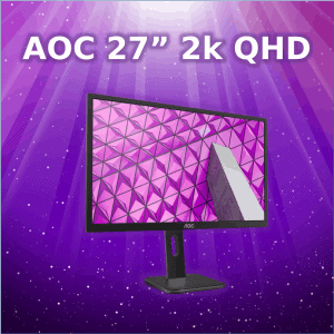 "AOC 27"" 2k QHD monitor we sell in Wagga"