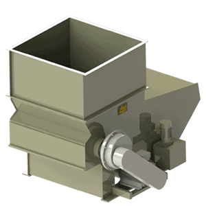 Scanhugger HL 3/12/12 hopper shredder 3d render with magazine