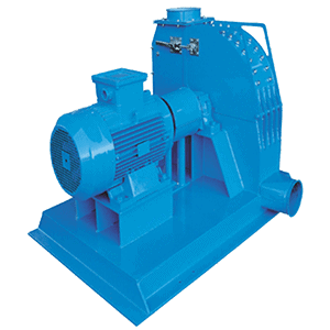 Scanhugger EU 2000 hammer mill for grinding shredded wood into into smaller particles