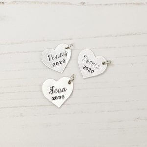 Stamped With Love - 16mm Heart Tags