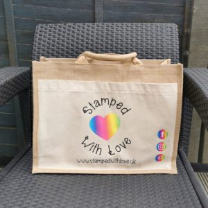 Stamped With Love Large Jute Bag