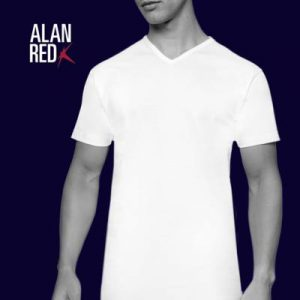 Alan Red Vermont TShirt V-Hals 2-Pack