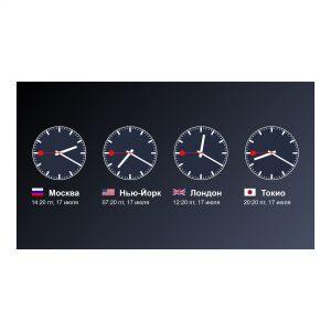 Мировые часы для 4х городов - Макет для SpinetiX