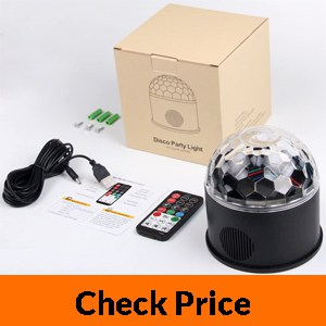 KOOT Disco Lights Bluetooth Speaker Sound Activated Party Light