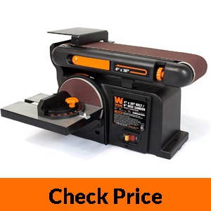 WEN 6502T Benchtop Belt and Disc Sander with Cast Iron Base