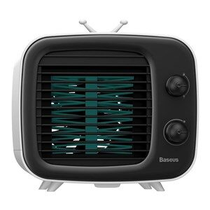 Mini air cooler Baseus Time fan, humidifier (black and white)
