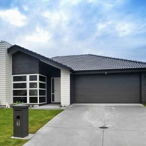 black home garage door