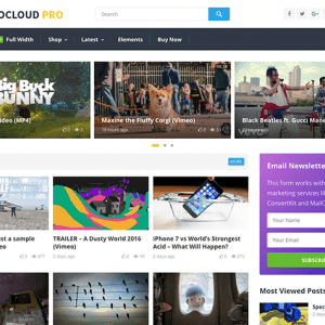 videocloud video wordpress theme