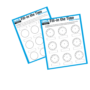 Fill-in the Time Worksheets- Buffalo Occupational Therapy