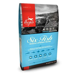 Orijen six fish variety meats no filler dog food choices versus Fromm