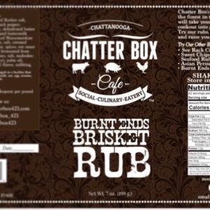 Chatter Box Cafe Burnt Ends Brisket Rub