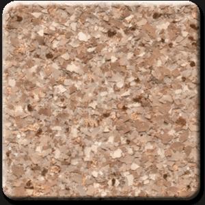 Epoxy flooring Mica Media Bagari SE Willow garage floor coating color sample