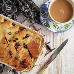 Traditional Bread and Butter Pudding made gluten free