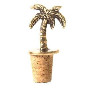 À la Palm Tree Bottle Stopper