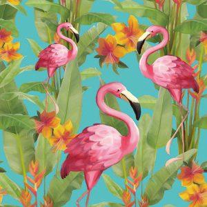 ambienten servetten flamingos aqua