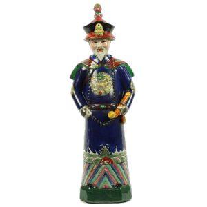 Porseleinen beeld Keizer blauw staand