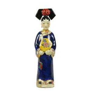 Fine Asianliving Chinese Keizerin Blauw met spiegel