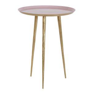 Light & Living bijzettafel Lagino roze Ø35x44cm