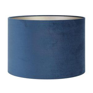 Light & Living lampenkap Velours Petrol blue cilinder (40-40-30 cm)
