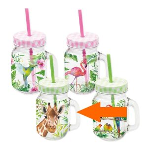 PPD drinkglas Tropical Giraffe