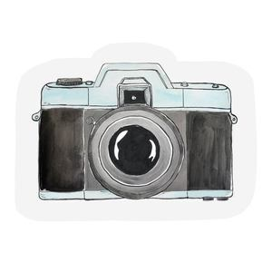 The Gift Label Cut Out Cards Camera