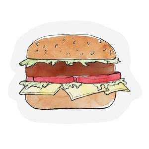 The Gift Label Cut Out Cards Hamburger