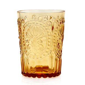Van verre Fleur De Lys Glas Amber groot