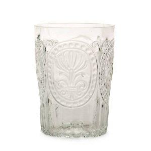 Van verre Fleur De Lys Glas Clear groot