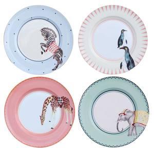 Yvonne Ellen Carnival Animal Diner borden 4stuks