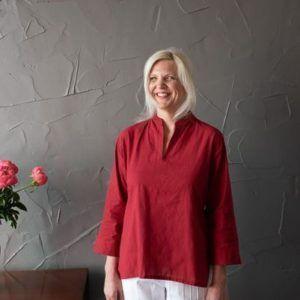 Molly kurta - red mangalgiri cotton