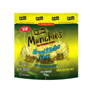Front View of Munchies Bread & Butter Chips Pouch