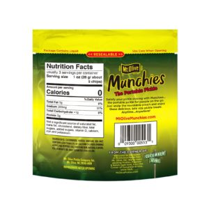 Back of Mt. Olive Munchies Buffalo Kosher Dill Chips Pouch