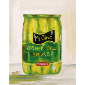 Color Print of Kosher Dill Pickle Spears