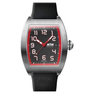 mt2 r steel red dial