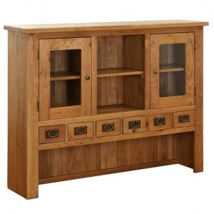 Vancouver Oak 6 Drawer 2 Door Hutch