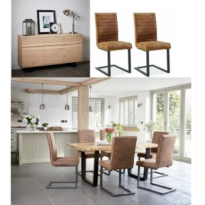 Oak Mill Buy the Style Industrial Dining Room Bundle
