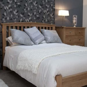 Burniston Oak Arched Double Bed