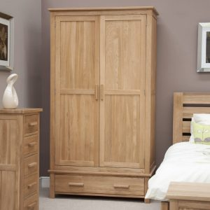 Harwell Oak Gents Wardrobe