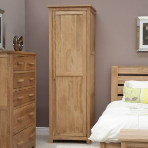 Harwell Oak Single Wardrobe