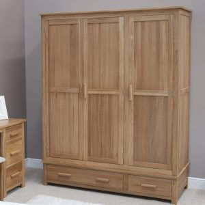 Harwell Oak Triple Wardrobe