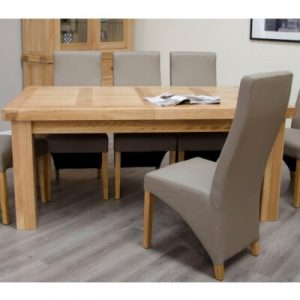Bordeaux Oak Extending Dining Table 6 -10 Seat Set